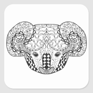 Ours de koala inspiré sticker carré