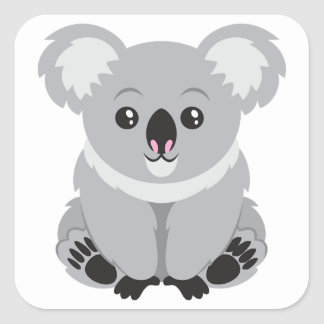 Ours de koala mignon sticker carré