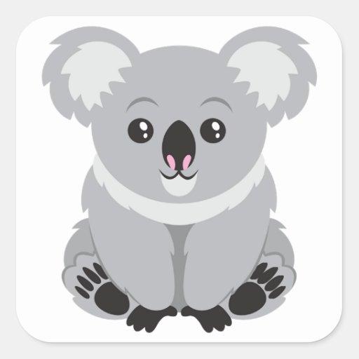 Ours de koala mignon autocollant carré