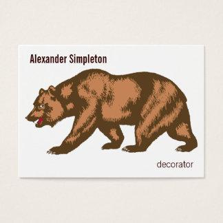 Ours de la Californie Cartes De Visite