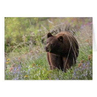 Ours de l'Alaska - carte vierge