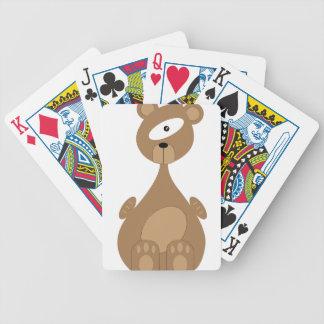 Ours de l'espace jeu de cartes