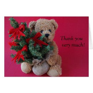ours de nounours avec le carte de remerciements