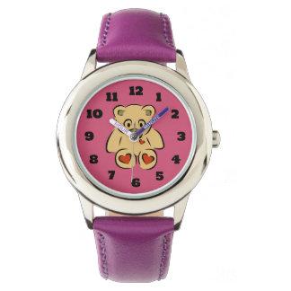 Ours de nounours bourré mignon de jouet montres bracelet