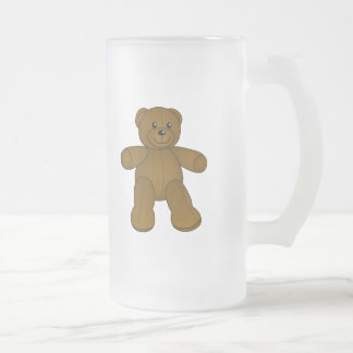 Ours de nounours brun mignon frosted glass beer mug