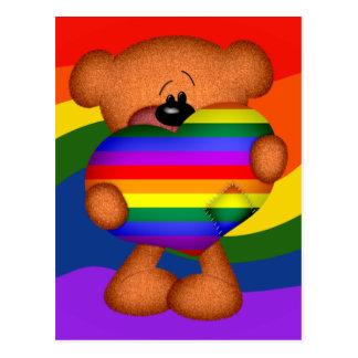 Ours de nounours de coeur de fierté carte postale