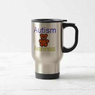 ours de nounours de sensibilisation sur l'autisme mug de voyage en acier inoxydable