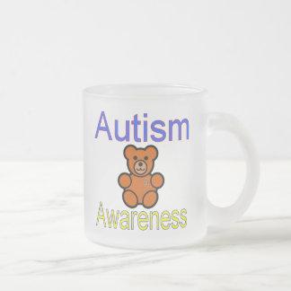 ours de nounours de sensibilisation sur l'autisme mug en verre givré