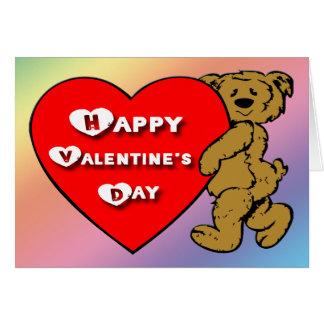 Ours de nounours de Valentine Carte De Vœux