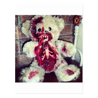 ours de nounours de zombi carte postale