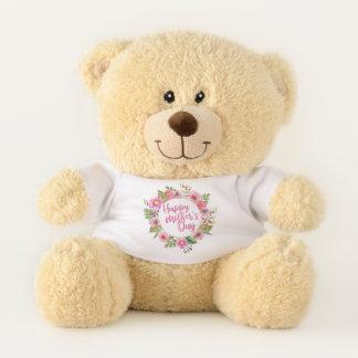 Ours de nounours floral heureux élégant du jour de