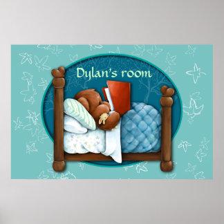 Ours de nounours lisant une histoire pour endormir posters