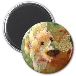 Ours de nounours magnet rond 8 cm