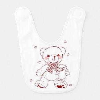 Ours de nounours mignon avec le bavoir d'ours de