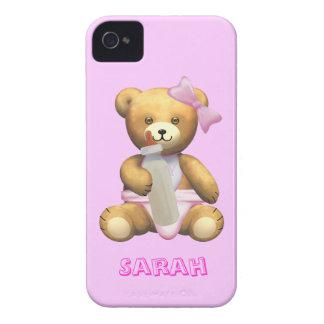 Ours de nounours mignon de bébé - nom de changemen coques iPhone 4 Case-Mate