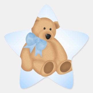 Ours de nounours mignon, pour le bébé stickers en étoile