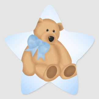 Ours de nounours mignon, pour le bébé sticker étoile