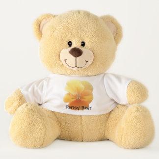 Ours de nounours - ours de pensée - pensée orange