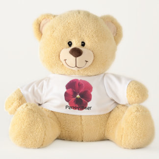 Ours de nounours - ours de pensée - pensée rouge