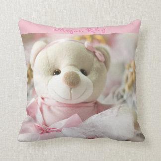 Ours de nounours rose de bébé de carreau oreiller