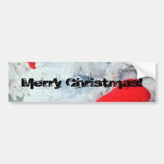 Ours de nounours rouge dans l'arbre de Noël Autocollant De Voiture
