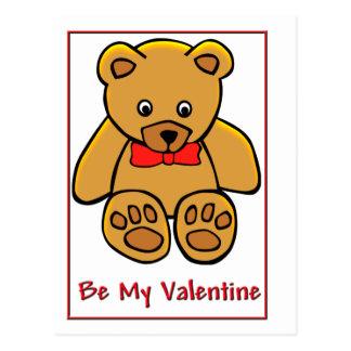 Ours de nounours Valentine Carte Postale