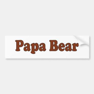 Ours de papa autocollant pour voiture