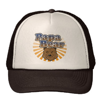Ours de papa, regard vintage de fête des pères casquettes de camionneur
