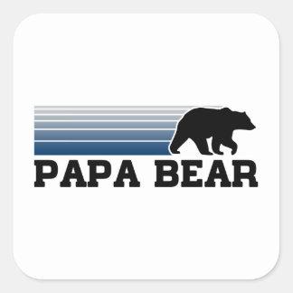 Ours de papa sticker carré