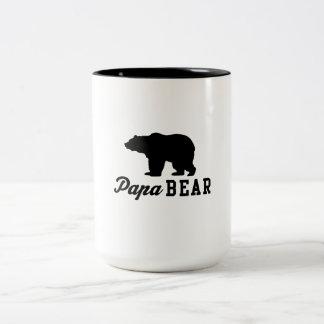 Ours de papa tasse 2 couleurs