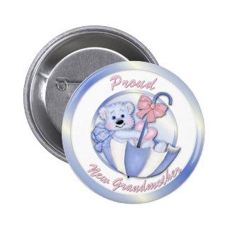 Ours de parapluie - nouvelle grand-maman - garçon badge avec épingle