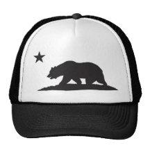Ours de République de la Californie - noir Casquettes