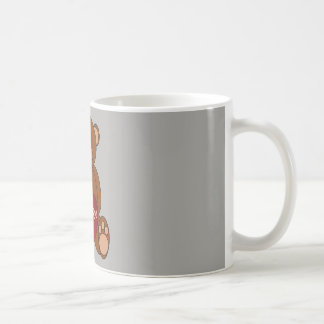 Ours de tasse avec je t'aime le coeur