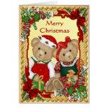 Ours doux de Noël - vers à l'intérieur Cartes De Vœux