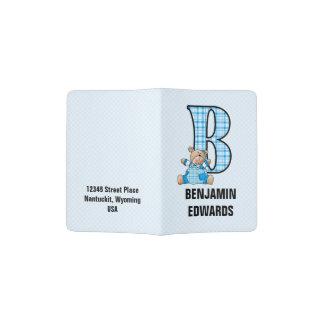 Ours du monogramme B pour le voyageur de Little Protège-passeports