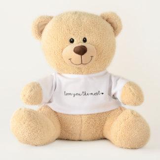 Ours En Peluche aimez-vous plus avec moderne simple de coeur
