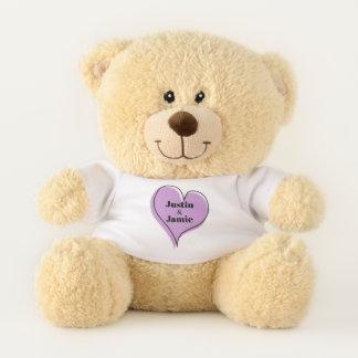 Ours En Peluche Amour de couples de Purple Heart