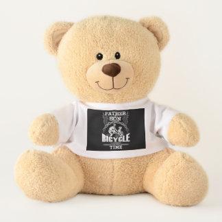 Ours En Peluche Bicyclette de fils de père