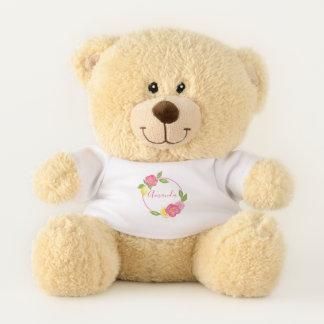 Ours En Peluche Cadeau floral de nom de bébé de guirlande de