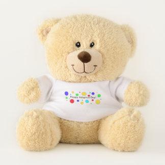 Ours En Peluche Cadeau heureux de souvenir de jour d'adoption pour