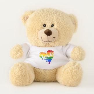 Ours En Peluche Coeur d'amour de l'arc-en-ciel LGBT de gay pride