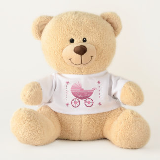 Ours En Peluche Date de naissance rose de voiture d'enfant