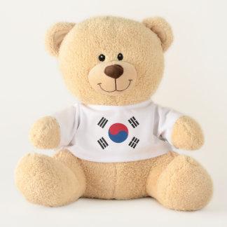 Ours En Peluche Drapeau de la Corée du Sud