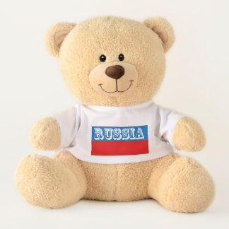 Ours En Peluche Drapeau de la Russie