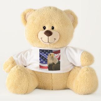 Ours En Peluche Eagle chauve américain et pièce en t de drapeau