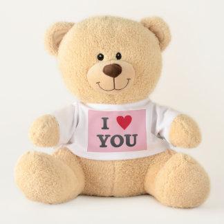 OURS EN PELUCHE I LOVE YOU