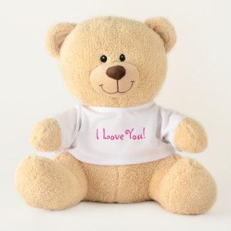 Ours En Peluche Je t'aime ! Doux et câlin