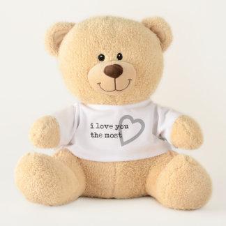 Ours En Peluche je t'aime le moderne le plus simple avec le coeur
