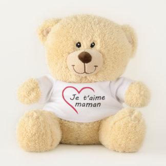 Ours En Peluche Je t'aime Maman!