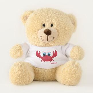 Ours En Peluche Le crabe heureux mignon de l'enfant